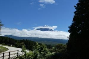ちらっとだけ富士山が見えました