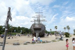 大きい船が!
