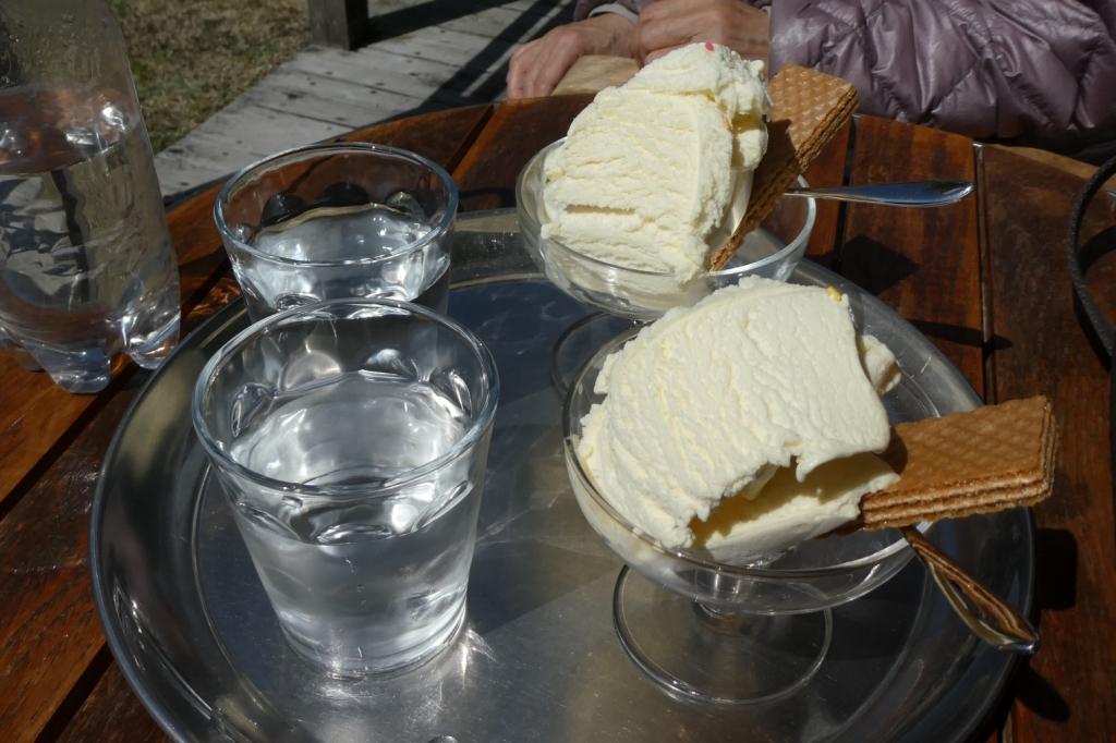 アイスもおいしくいただきました