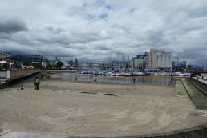 人工の海辺もあります