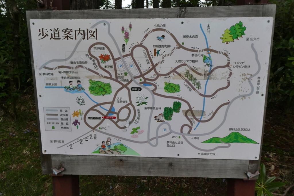 自然園案内図